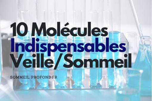 Fioles avec plusieurs molécules du sommeil