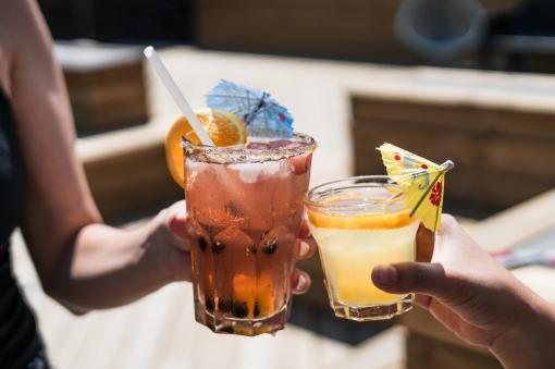 2 verres d'alcool