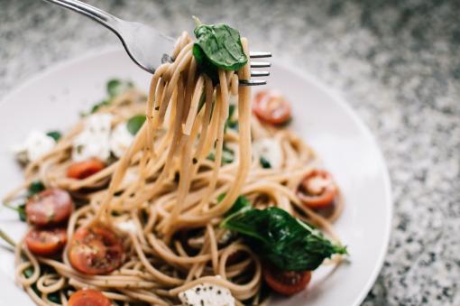 Plats de spaghettis