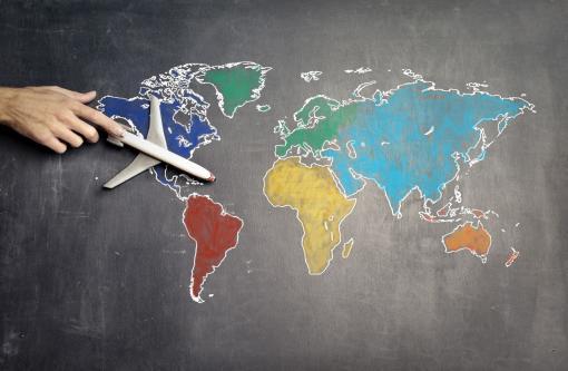 Carte des voyages en avion