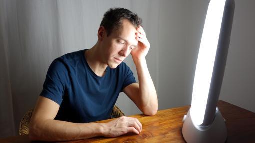 Depression et lampe de lumiontherapie